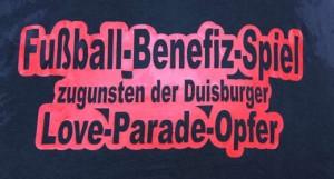 Benefiz Fussballspiel für Loveparade-Opfer