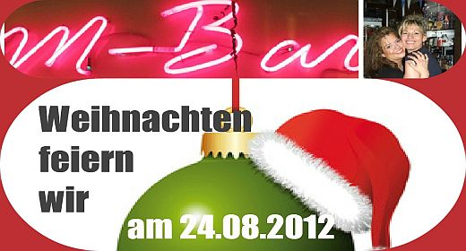 am 24 august weihnachtet es in der m bar im forum. Black Bedroom Furniture Sets. Home Design Ideas