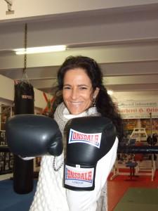 Anita im Boxring