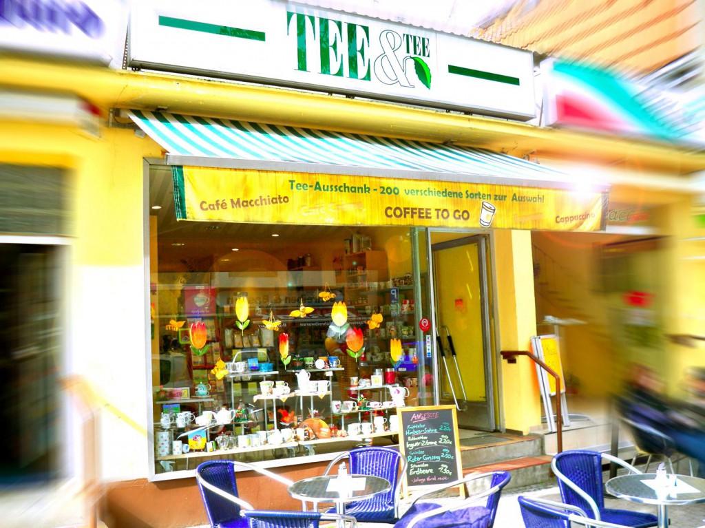 Ladenfrontklein- Teeladen