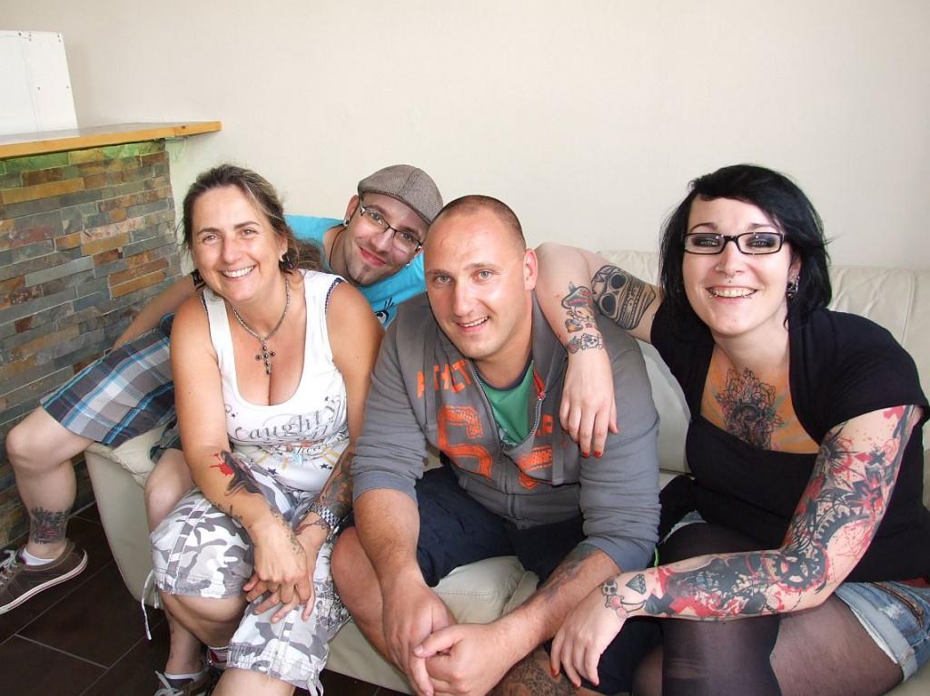 v.l.n.r. seht Ihr Birgit, Rafal, Eik un Nora