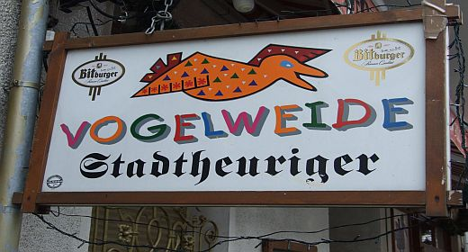 Clique Vogelweide Schild