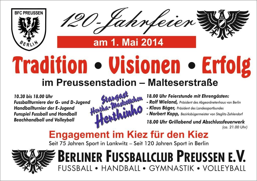 BFC Preussen 120 Fahrfeier