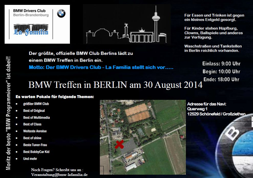 bmw event 30 august