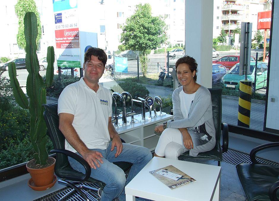 im Gespraech mit Florian Boldt und Anita Tusch