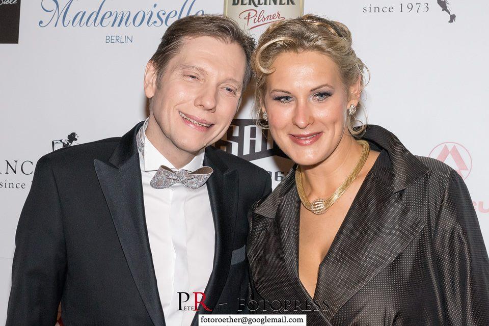 Andreas Dorfmann mit seiner Lebensgefährtin Virginia Belkin