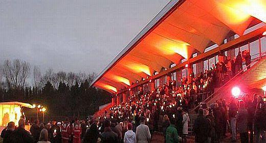 Stadionsingen im Süden Berlins