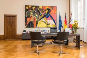 Besuch beim Bürgermeister von Berlin Michael Müller im roten Rathhaus.