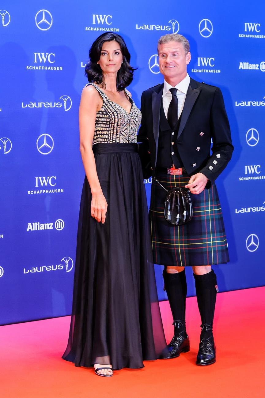 David Coulthard und Ehefrau Karen Minier