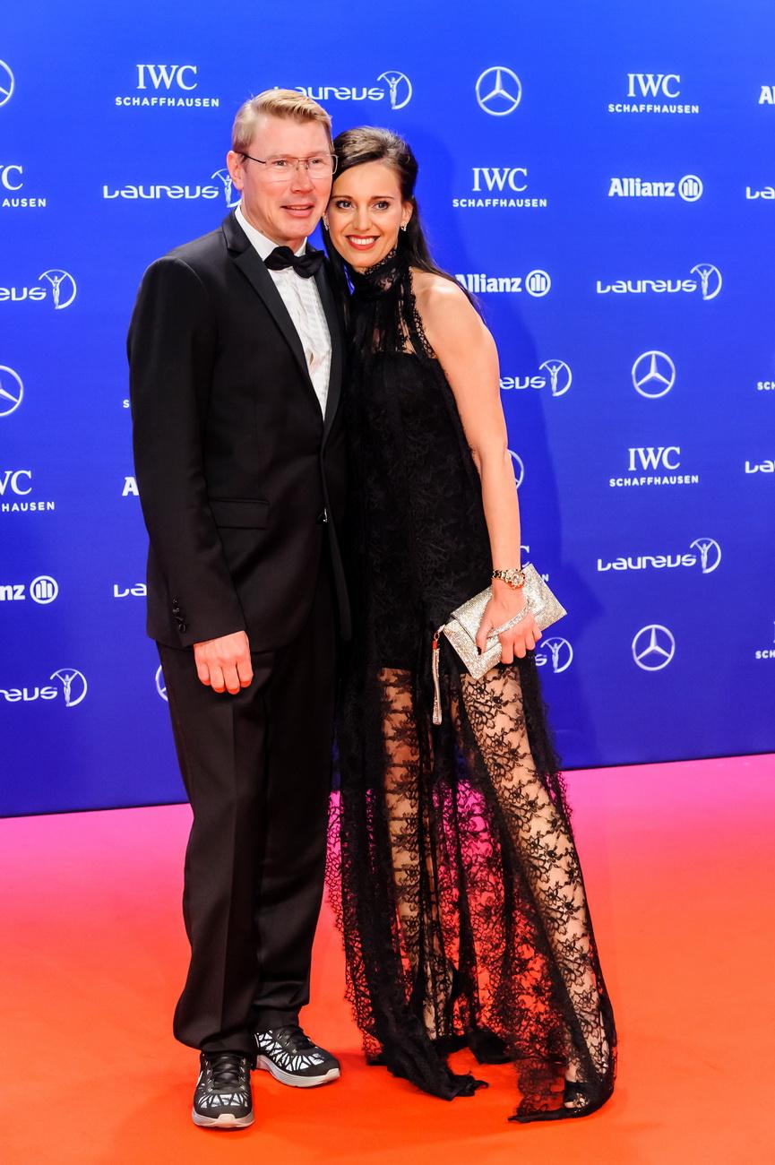 Formel 1 Champion Mika Haekkinen mit Freundin Marketa Ramesova