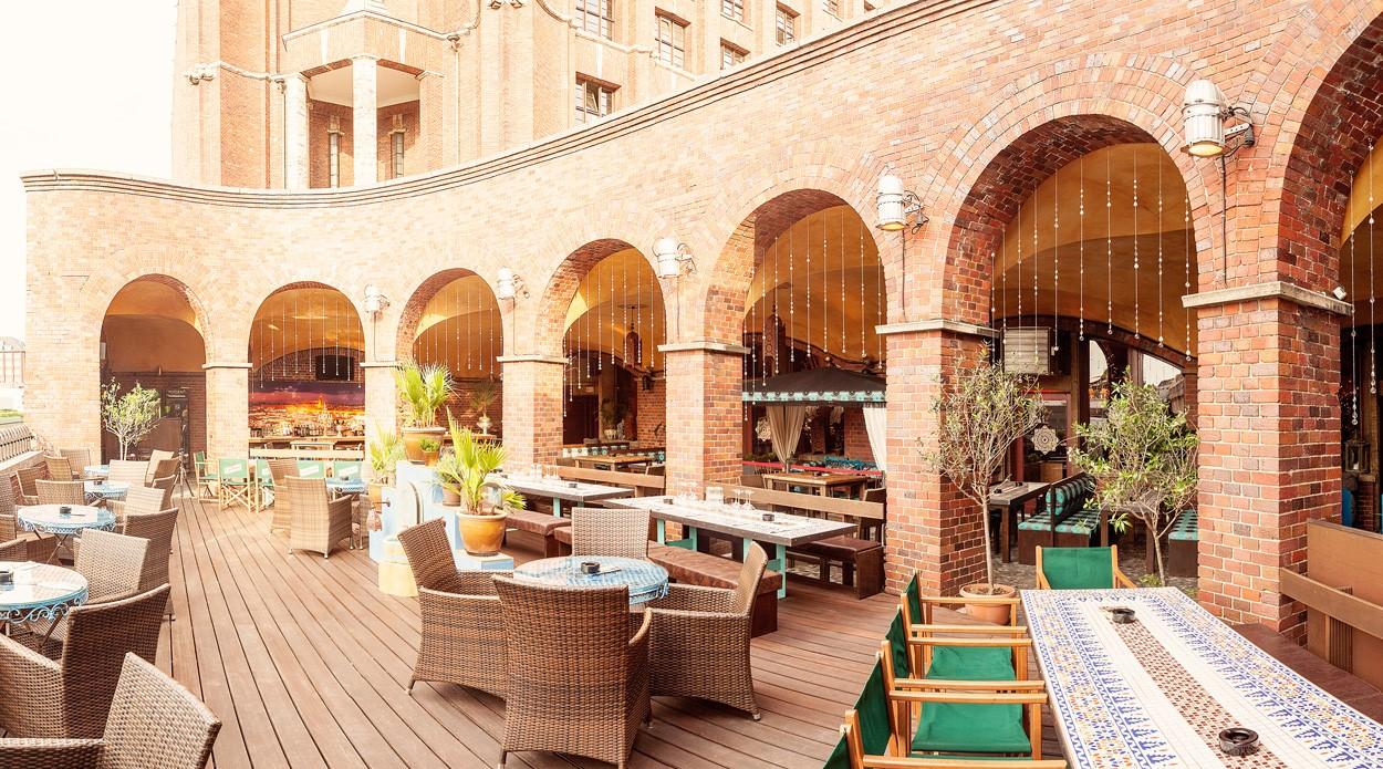 Die Morocco Suite Terrace der Amber Suite (Foto Amber Suite)