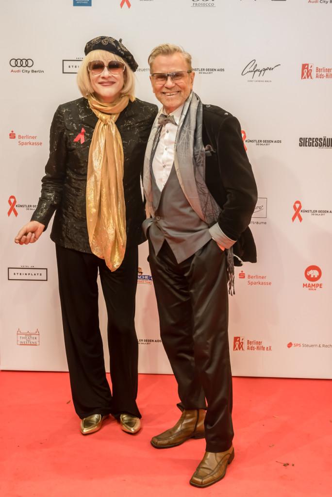 Irmgard Knef, Rene Koch Künstler gegen Aids © Manfred Behrens