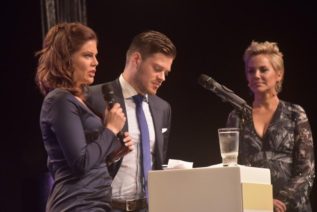 Jennifer Fuchsberger und Julian Fuchsberger, Inka Bause am 26.10.2017 beim 7. Diabetes Charity Gala im Tipi am Kanzleramt Berlin